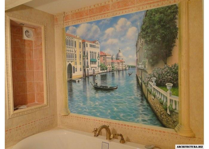 Роспись на стенах в ванне
